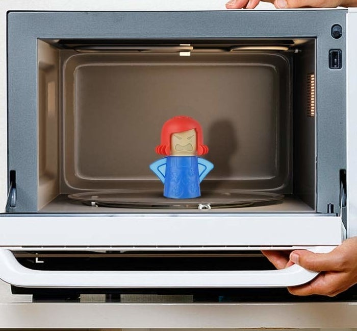 mom-shaped figure that's put in microwave