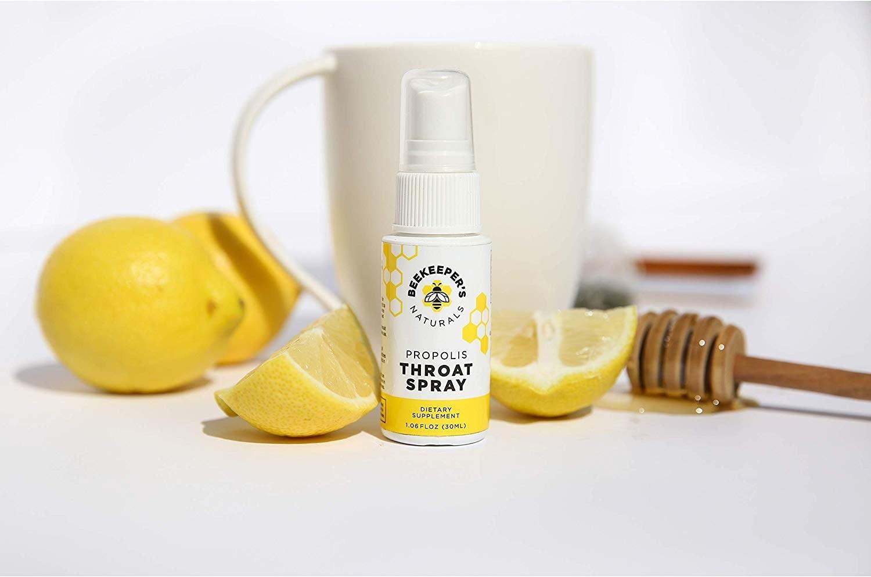 a honey throat spray