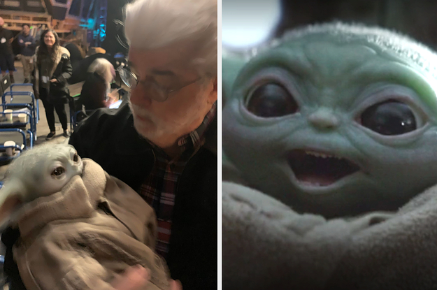 George Lucas Holding Baby Yoda Is The Wholesome Content We All Need