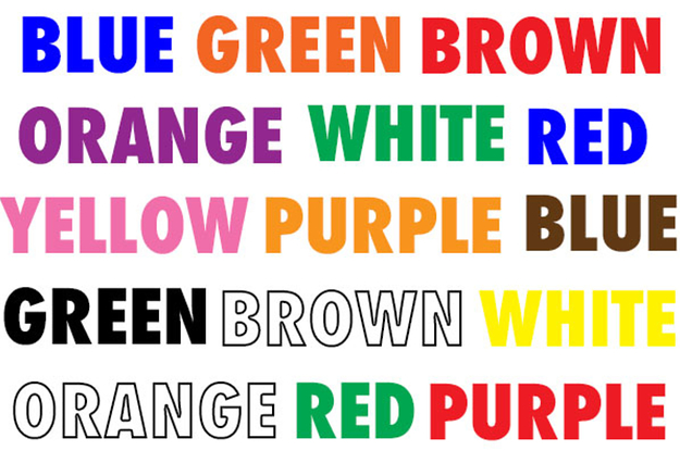 Let's See If Your Brain Is Altered By The Stroop Effect
