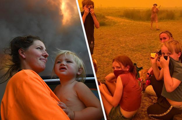 Photos Of Kids In Australia's Bushfires
