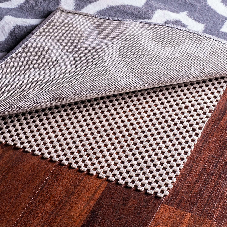 A textured mat under a rug
