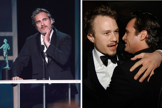 Joaquin Phoenix Thanked Heath Ledger In His 2020 SAG Awards Speech And I'll Let You Know If I Ever Recover