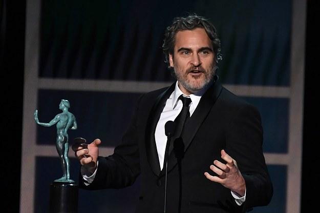 Joaquin Phoenix Won The 2020 SAG Award For Joker And Thanked Heath Ledger