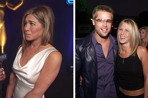 """Jennifer Aniston Called Brad Pitt """"Sweet"""" After She Was Told About The Video Of Him Watching Her Win A SAG Award"""