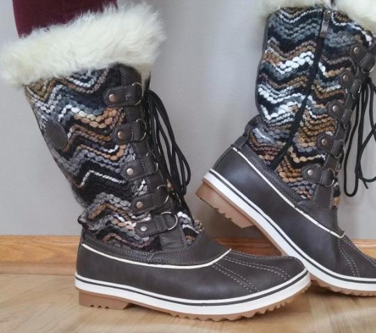 Snow Boots Women Sneaker Boot Winter High Top side zipper Fur Warm Shoes 5.5-9.5