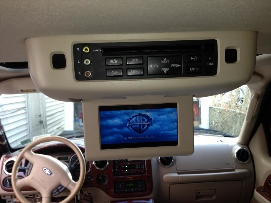 dvd player in a car