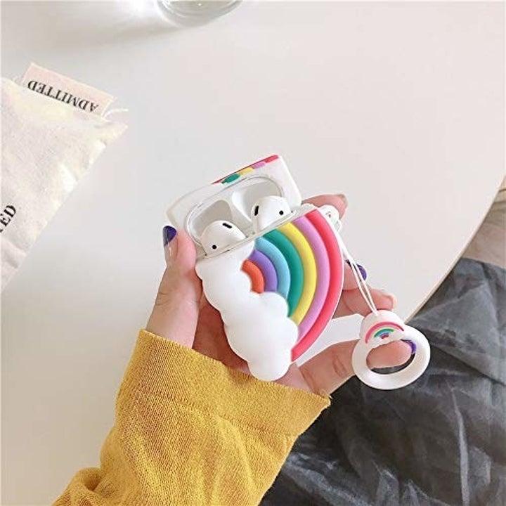 airpod case shaped like rainbow