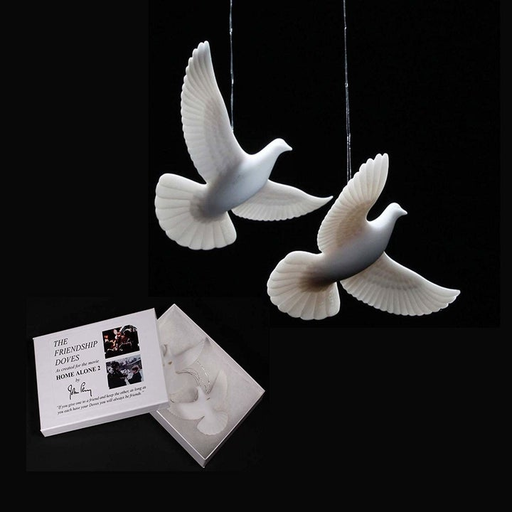 two white dove ornaments