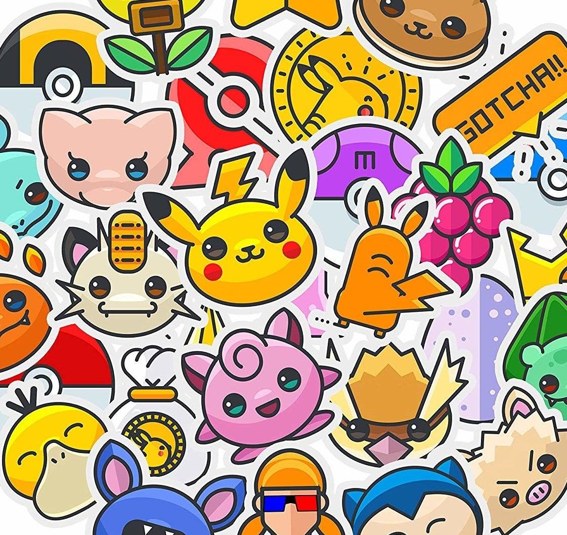 cartoon style pokemon characters
