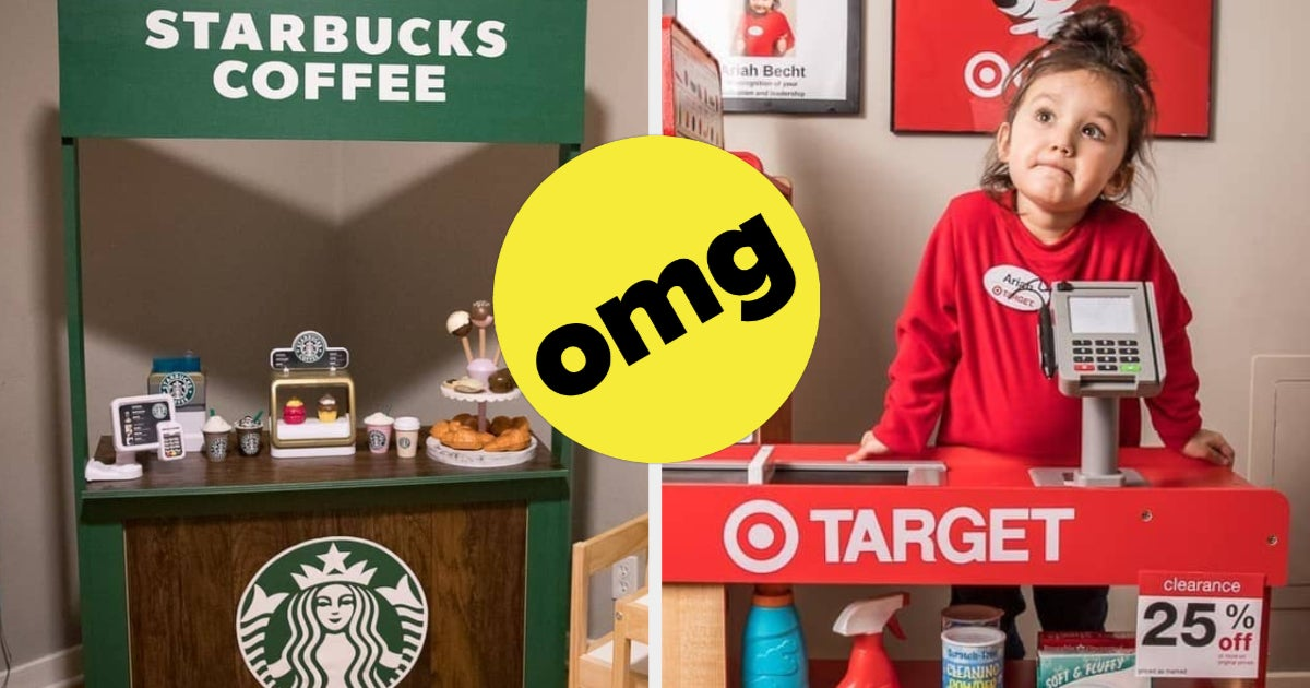 This Mom Built Her Kid A Target & Starbucks Playroom (And It's Amazing)