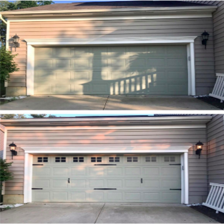 garage without the magnets, then garage with the magnets that looks so much more expensive