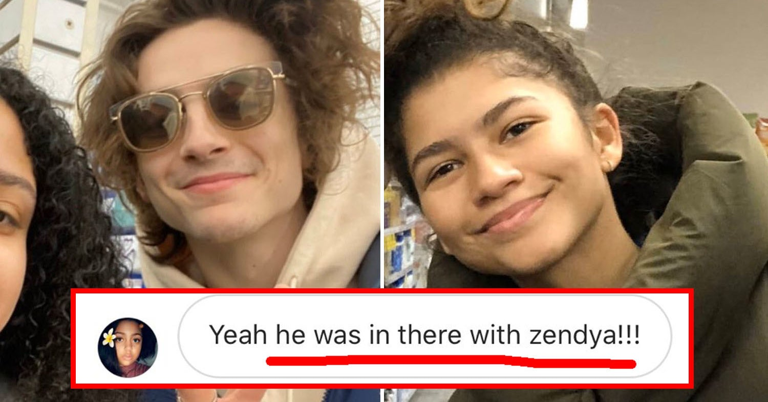 Timothée Chalamet And Zendaya Were Spotted At A Bed Bath & Beyond Together