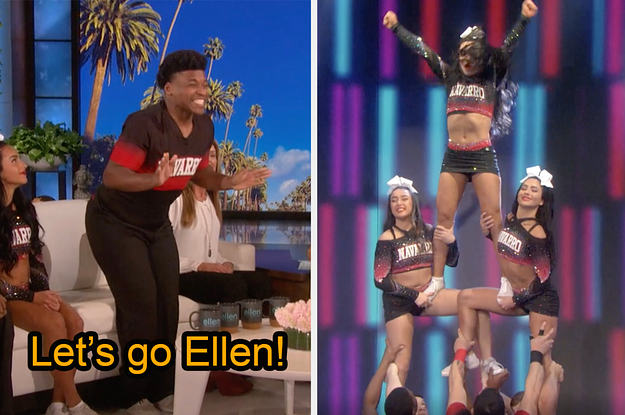 "The Navarro ""Cheer"" Team Performed On ""..."