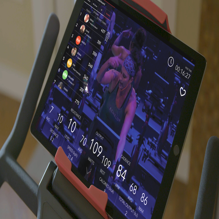 a close up of the screen attached to the bike