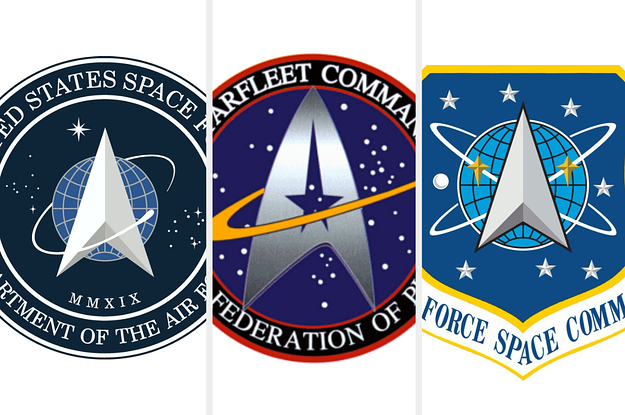 Trump Tweeted Out A New Space Force Logo And It's Basically A Copy Of Star Trek's Starfleet Symbol