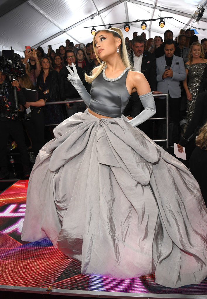 ariana grande s grammys look is the biggest fluffiest poofiest dress you ve ever seen ariana grande s grammys look is the