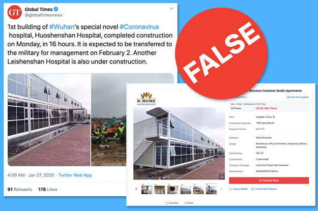 Chinese State Media Spread A False Image Of A Hospital For Coronavirus Patients In Wuhan