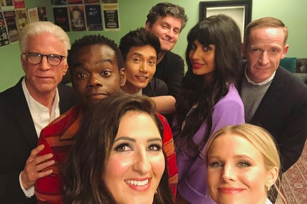 """The Good Place"" Series Finale Is Almost Here, So Here Are 31 Behind-The-Scenes Photos To Cherish In The Meantime"