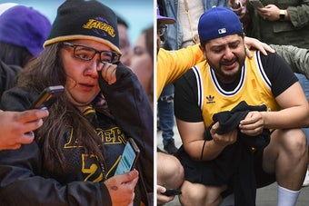 These Emotional Pictures Show How People Are Reacting To Kobe Bryant's Death