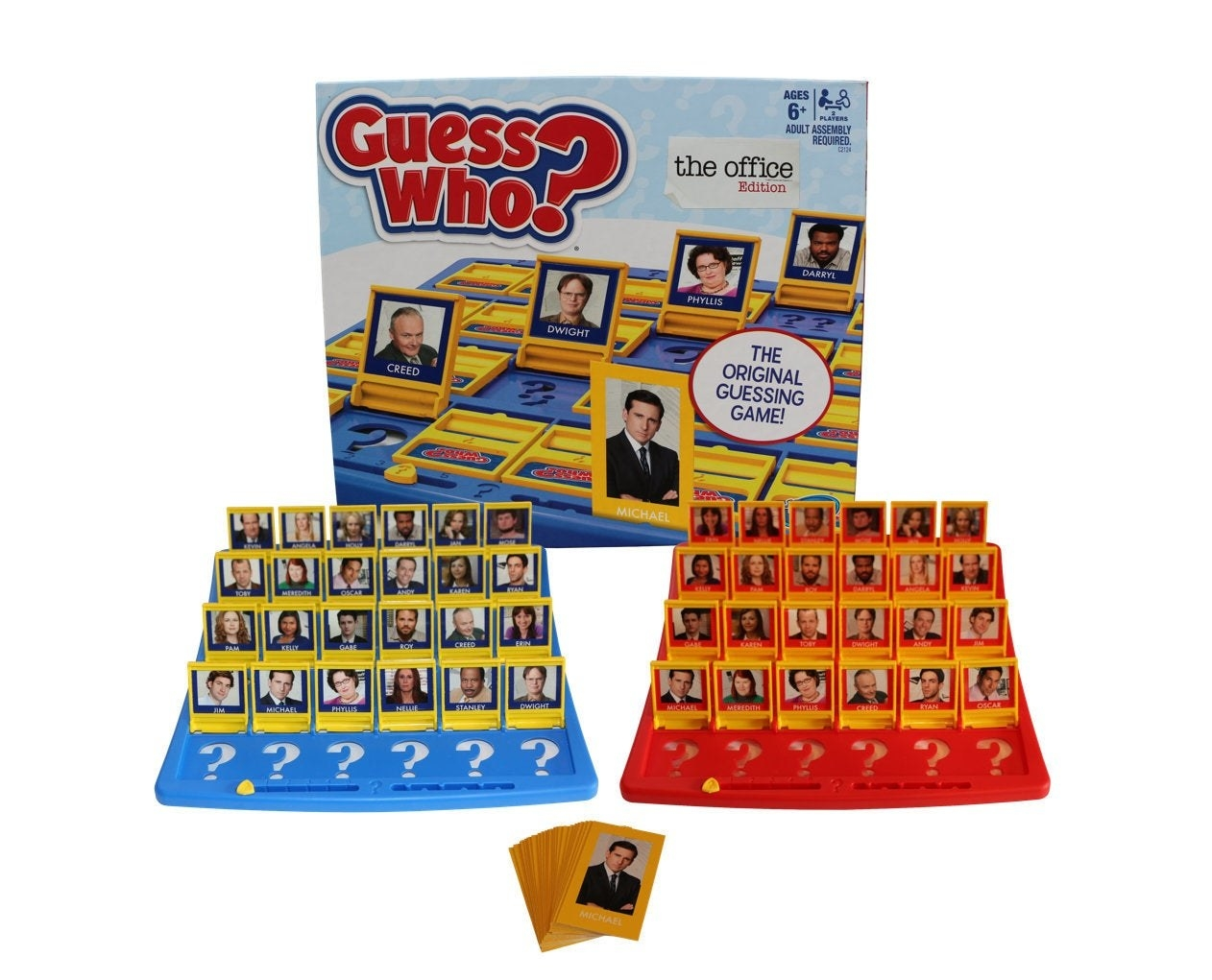guess who game with office characters