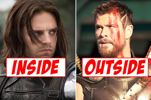 Which Marvel Character Are You On The Inside, And Which Are You On The Outside?