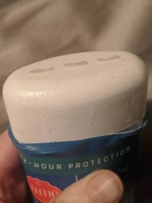 Reviewer photo of the deodorant, which looks like regular gel deodorant