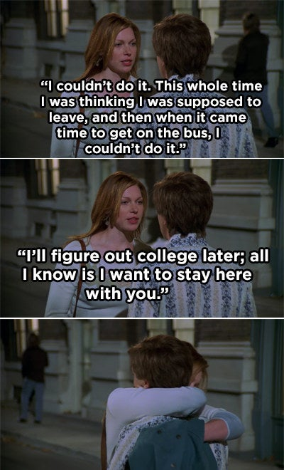 Donna telling Eric she'd rather stay with him than go to college