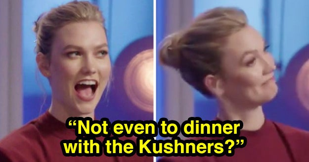 """Karlie Kloss's Reaction To A """"Project Runway"""" Designer Mentioning Her In-Laws Is On Infinite Loop In My Brain"""