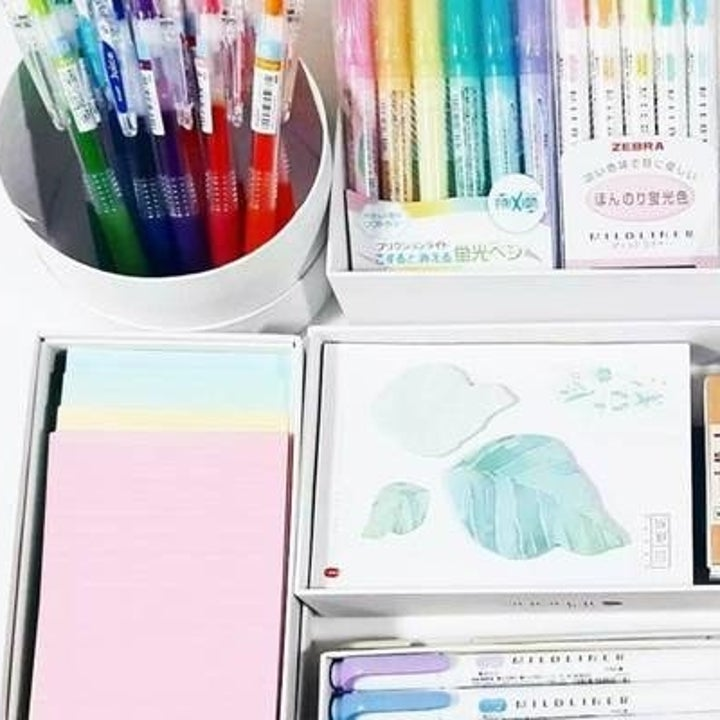 Colorful paper and markers