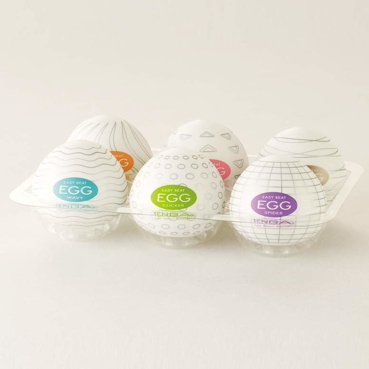 Massage cups in egg carton packaging