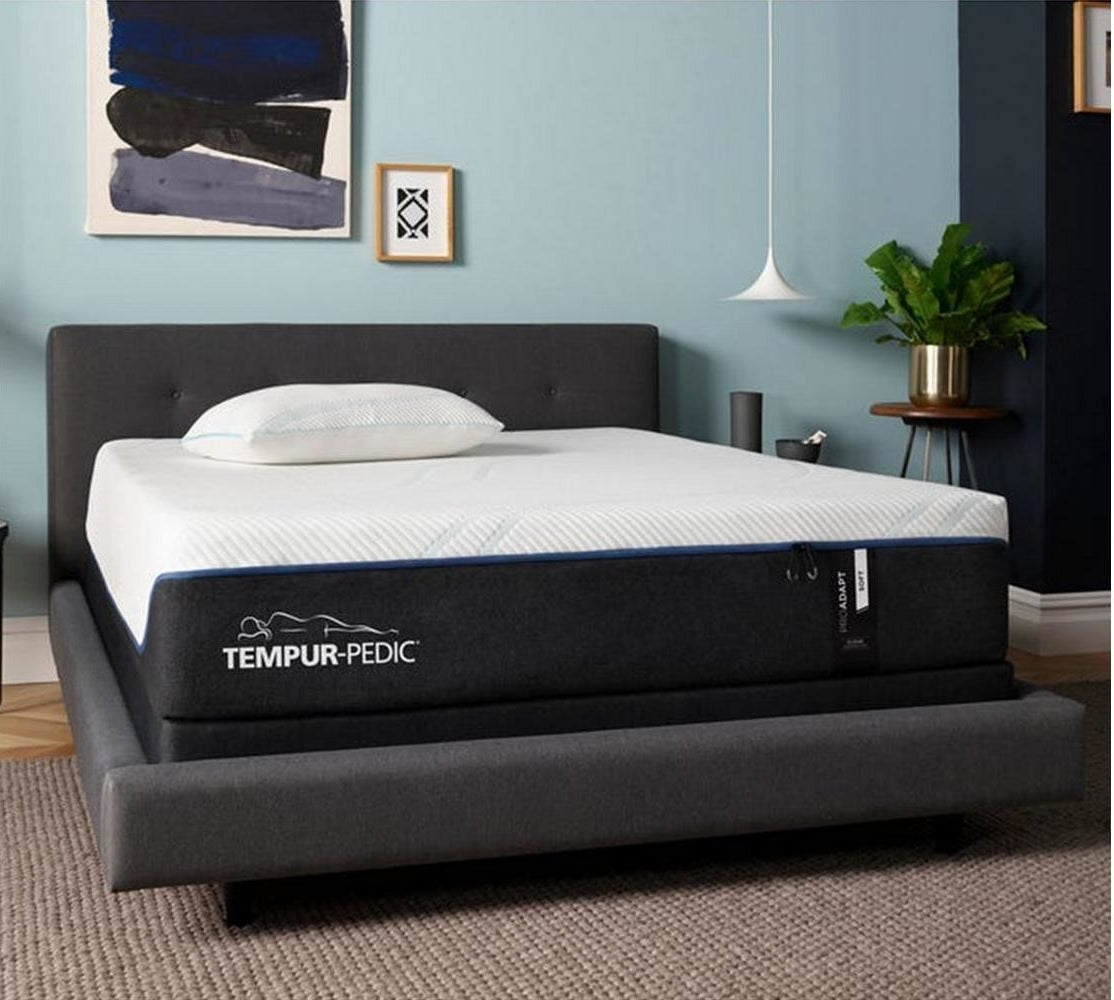 the mattress on a bed