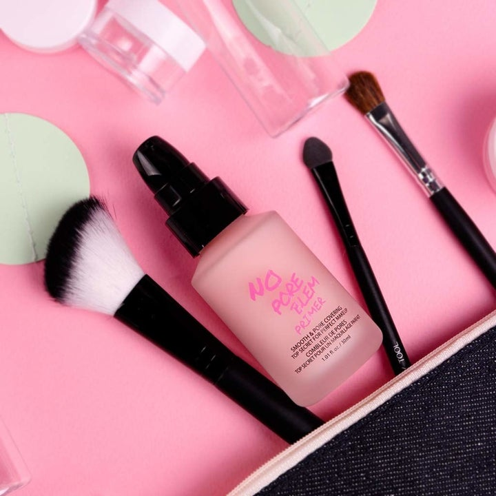 the pink bottle of pore primer