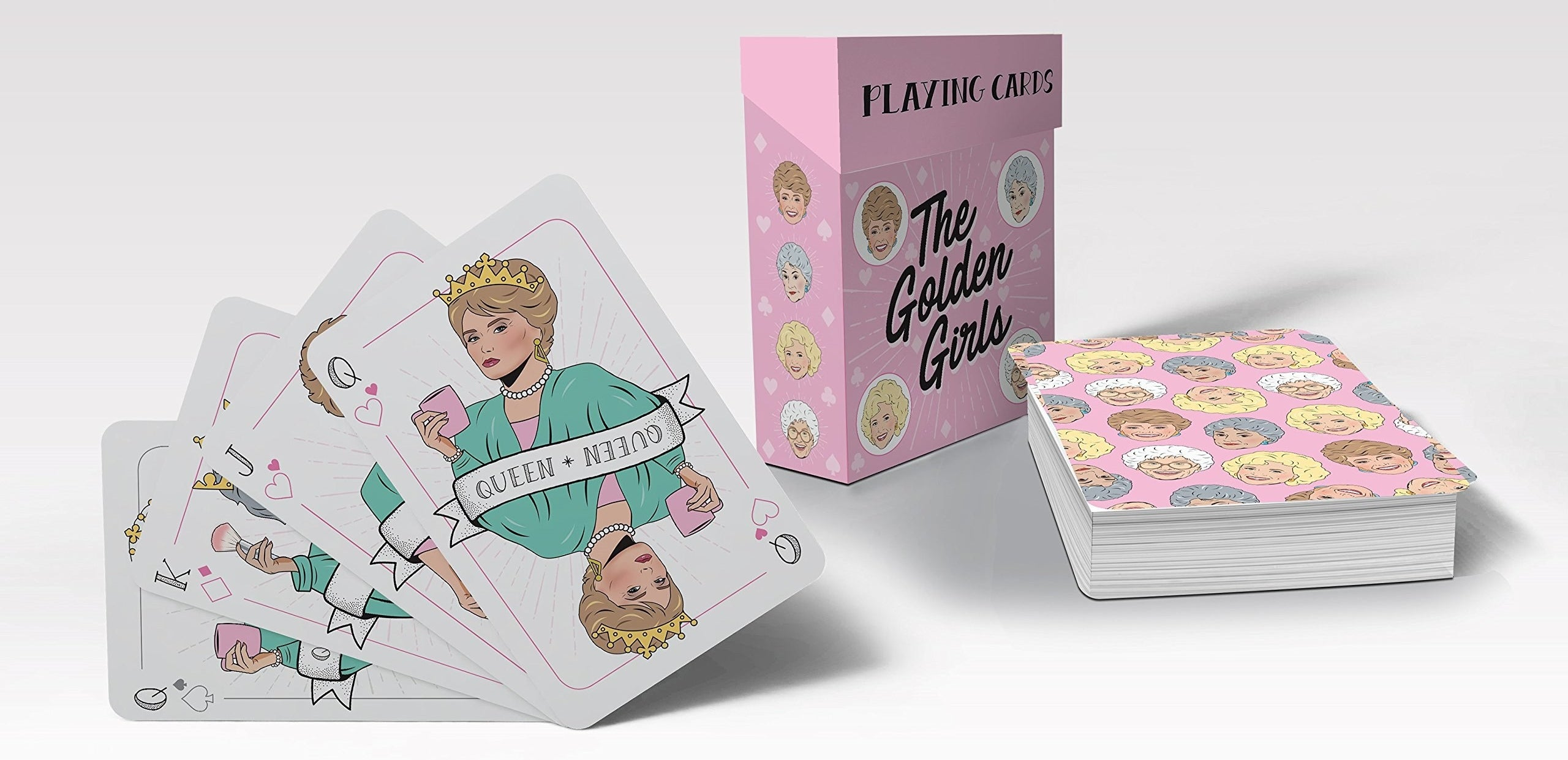 A deck of cards with the cast of Golden Girls on them