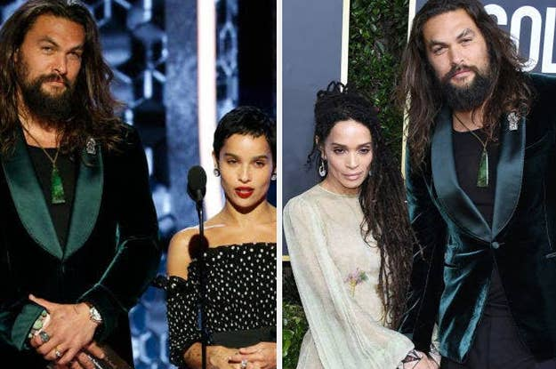 Jason Momoa Zoe Kravitz And Lisa Bonet Were Family Goals