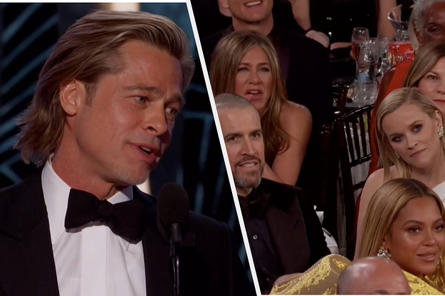 Brad Pitt Joked About His Dating Life At The Golden Globes And Jennifer Aniston S Reaction Was Priceless