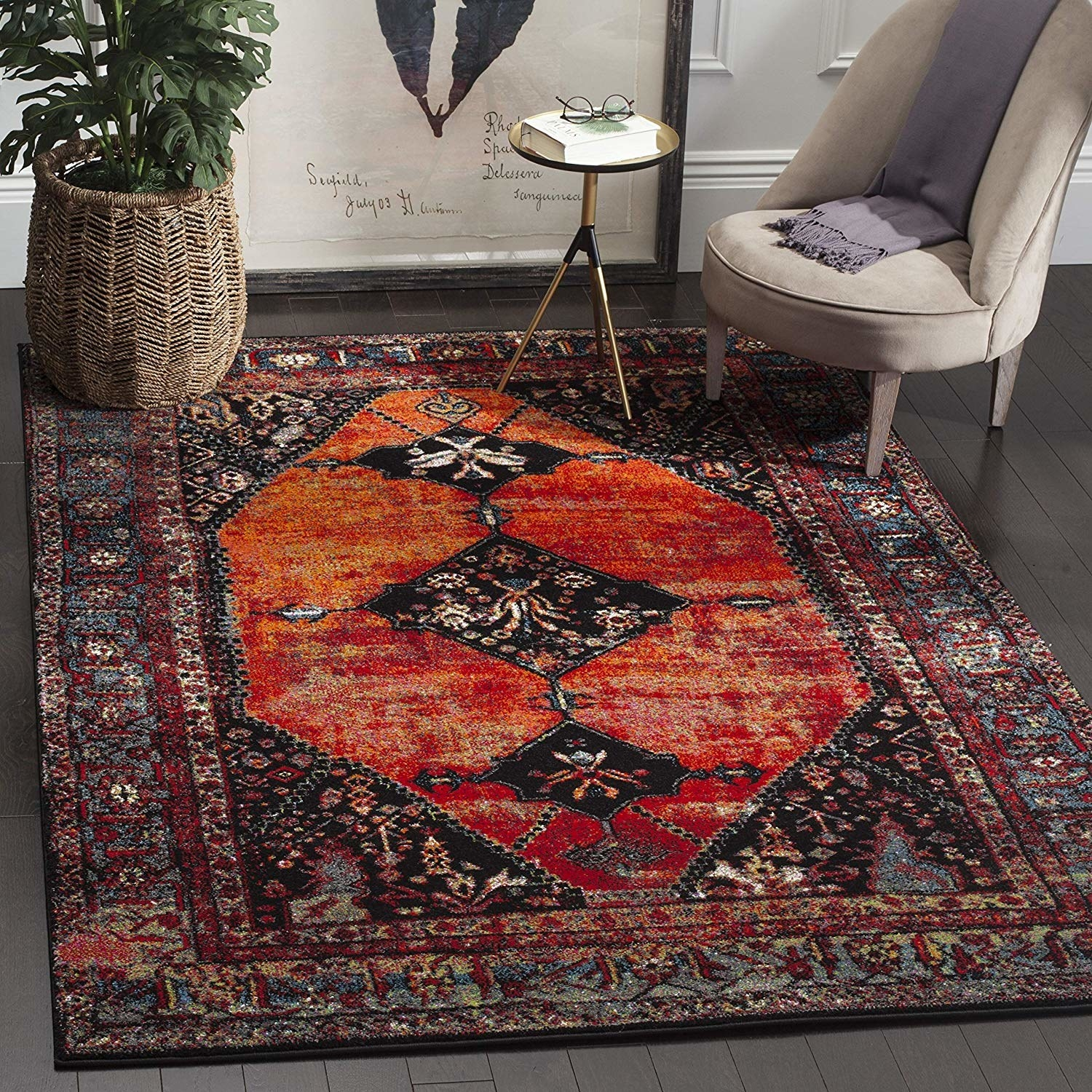 Classic Turkish style red rug