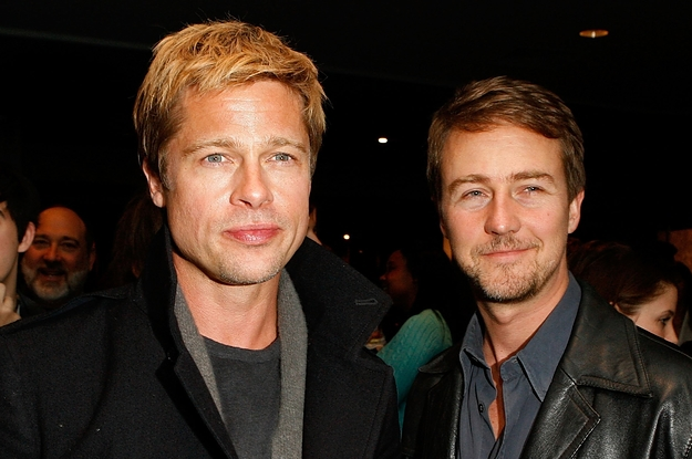 """This Story About Brad Pitt And Ed Norton Smoking A Joint Before The Premiere Of """"Fight Club"""" Is Cracking Me Up"""