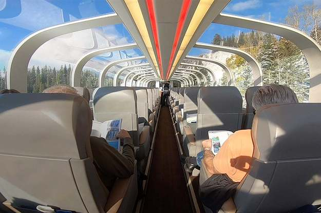 This Train In Canada Has A Glass Ceiling So You Get All The Views