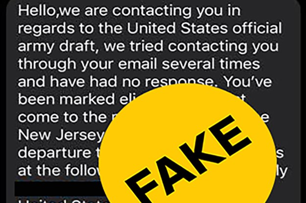 The Army Is Warning People About Fraudulent Texts Saying They've Been Drafted