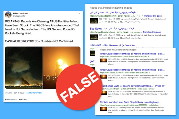 People Are Spreading False And Unverified Information About Iran's Missile Attack On US Bases In Iraq. Don't Be Fooled.