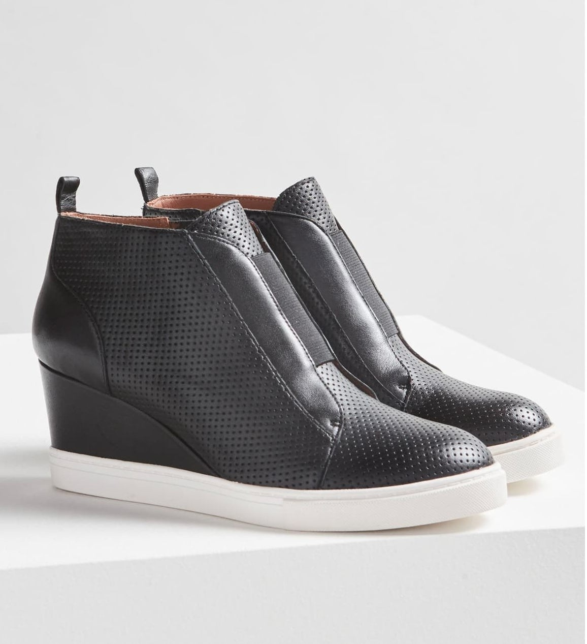 the leather wedges with a sneaker sole