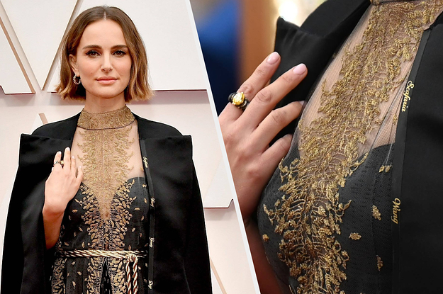 Natalie Portman Wore A Cape To The Oscars Embroidered With Names Of Snubbed Women Directors