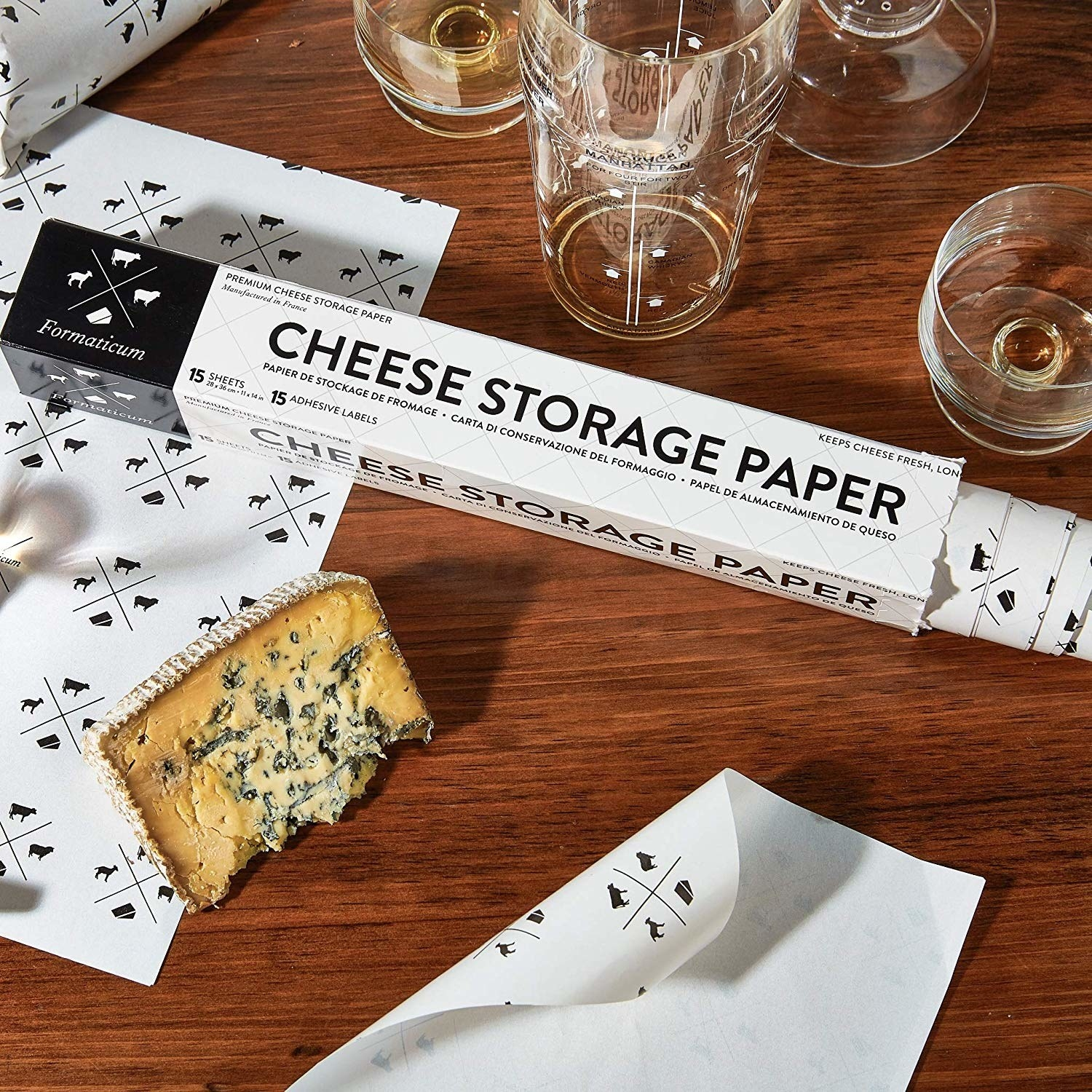 A roll of cheese paper