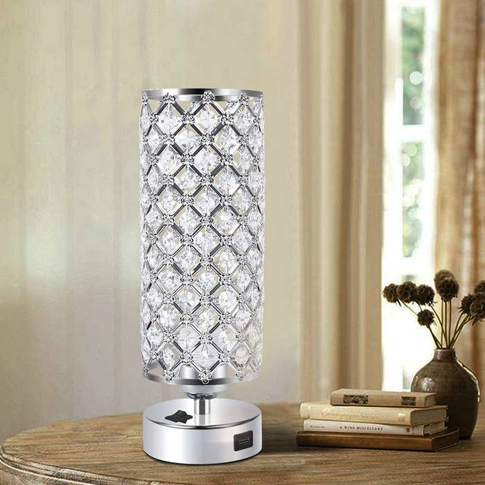 Crystal lamp on a table
