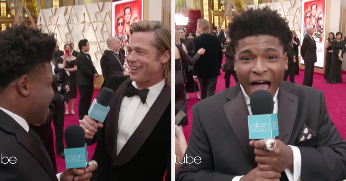 """Jerry From """"Cheer"""" Interviewed Celebrities At The Oscars And It's Just As Delightful As You'd Think thumbnail"""
