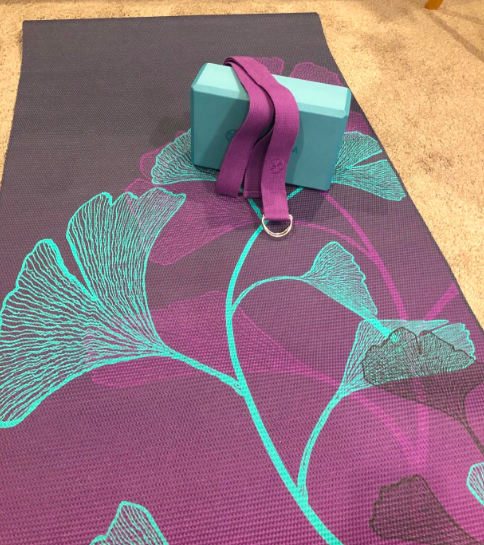 A customer review photo of the yoga kit