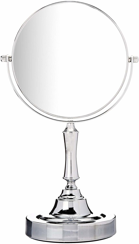 Silver tabletop mirror