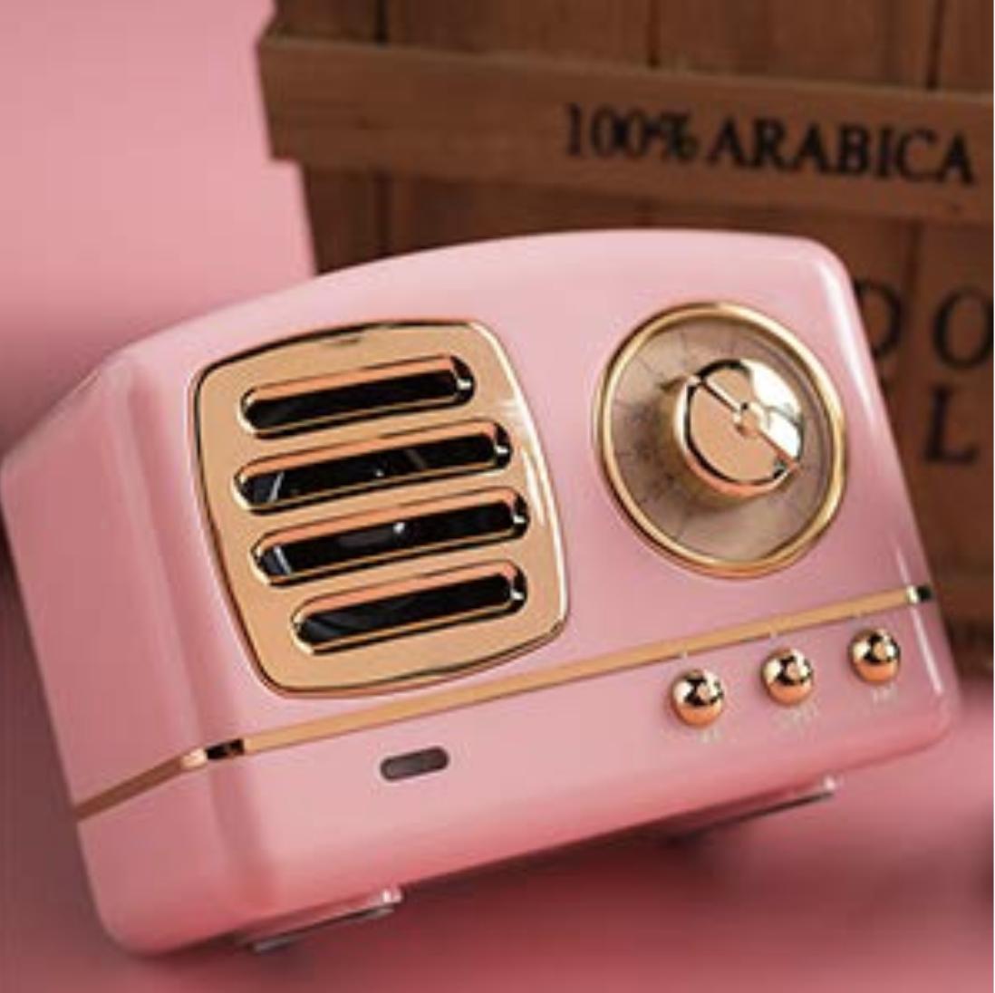 Small pink retro speaker