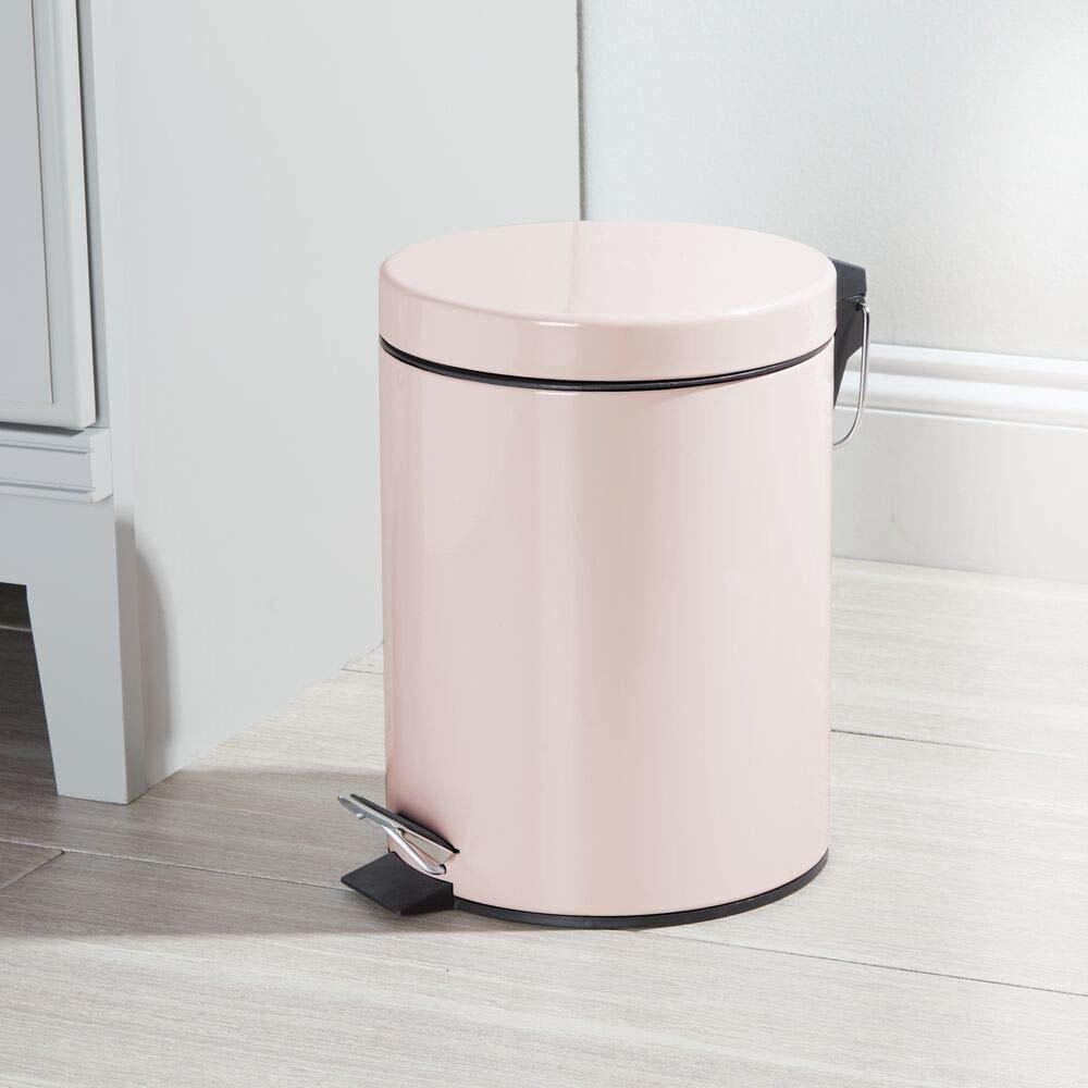 Light pink trash can